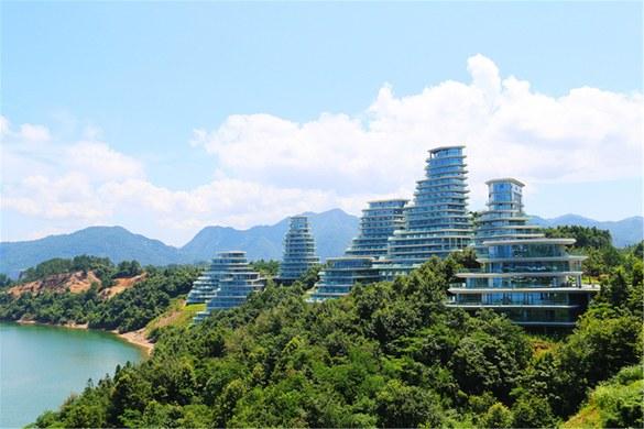 黄山太平湖绿地g公寓-中式一线湖景大床房